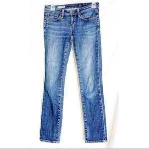 AG the Stevie petite straight leg denim jeans 24R